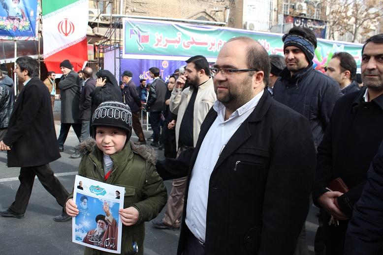 حضور همکاران در راهپیمایی 22 بهمن